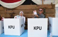 Wako dan Wawako Pagar Alam Nyoblos Pemilu Serentak 2019