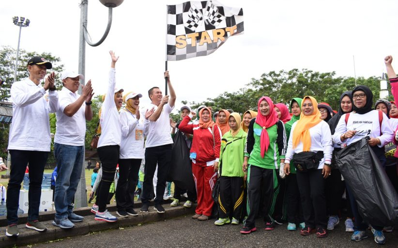 Peringati Hari Kartini, GOW Pagar Alam Gelar Hiking dan Senam Massal
