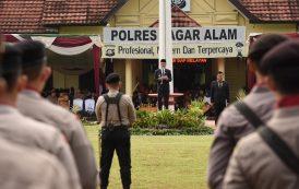 Walikota Pimpin Upacara HUT Bhayangkara ke 73 Polres Pagar Alam